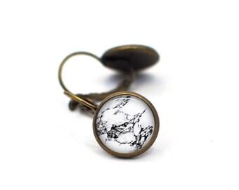 Marble Earrings, Marble Post Earrings, Gift for Women, Gift for Her, Statement Jewelry, Marble Stud Earrings, Boho Bohemian Jewelry