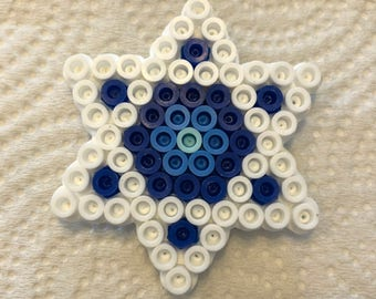Monochrome Star of David magnet (sm)