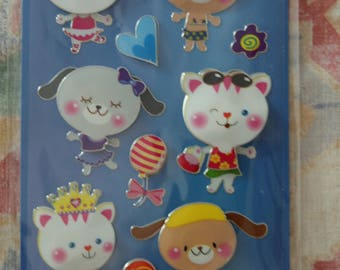 Stickers, 3D, 1 sheet (236)