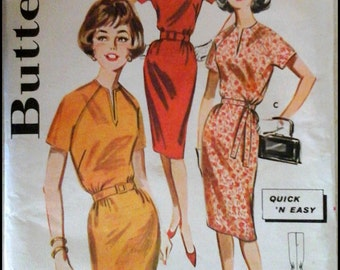 """Butterick 9786  Misses' Quick ' Easy Dress  Bust 31"""""""