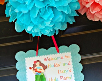 The Hula Collection - Coordinate Door Sign from Mary Had a Little Party