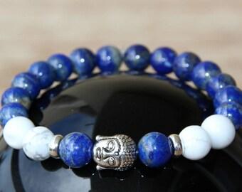 lapis lazuli bracelet semi precious beads