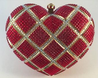 Swarovski Crystal Heart shaped Hand bag
