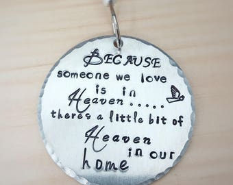 Personalized Christmas Ornament - Baby's First Christmas - Our First Christmas - Because someone we love is in Heaven - Keepsake Ornament