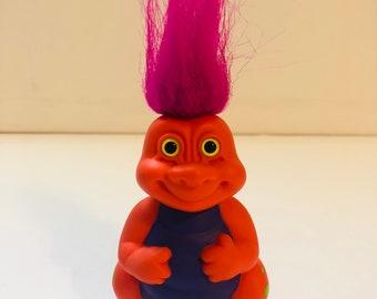 "1992 Russ Hatchling baby dinosaur troll doll 4"""