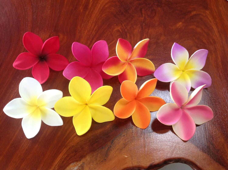 Hawaiian Frangipani Plumeria flower for float hair clip