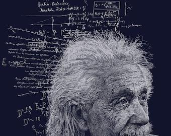 Albert Einstein Shirt - Men's Einstein T-shirt - Physics Gift - Science Gift - Science Shirt - Einstein Quotes