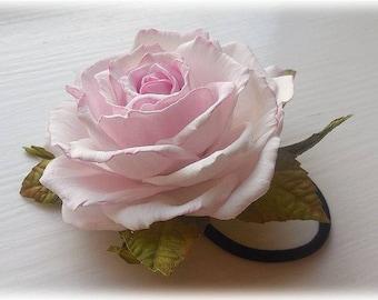 Bridal rose hair Flower Bridesmaid accessory Hair clip rose Bridal flower Hair clip blue Pink Flower Grey Gift Blush pink Flower Blush