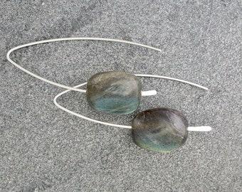Labradorite Swing/Threader/Wishbone Earrings