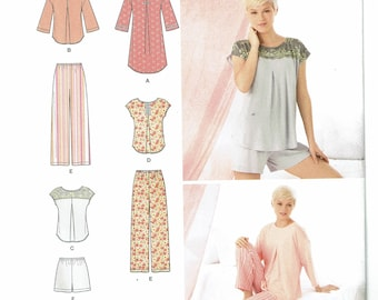 Simplicity Pattern 1502 Misses' Pants or Shorts and Nightshirt or Top Size A (XS-XL) UNCUT