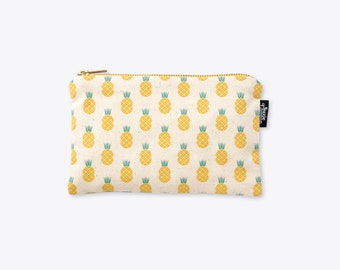 New! Disco Pineapple Organic Cotton Zip Bag