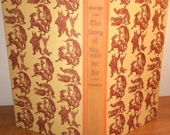 1954 J.W. von Goethe The Story of Reynard the Fox Vintage Book