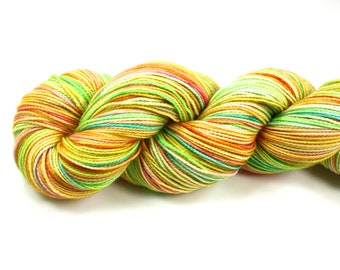 Just Ducky--hand dyed sock yarn, 2ply merino and nylon, (400yds/100gm)