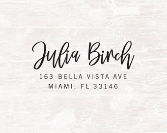 Return Address Stamp, Calligraphy Address Stamp, Custom Address Stamp, Wedding Stationery Stamp, Address Stamper, Custom Rubber Stamp