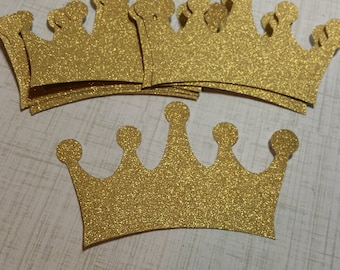 Large, Shimmer Gold Crowns. 4 inches.  #D-31