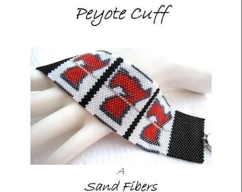 3 for 2 Program - One Armed Bandit Peyote Cuff - For Personal Use Only PDF Pattern