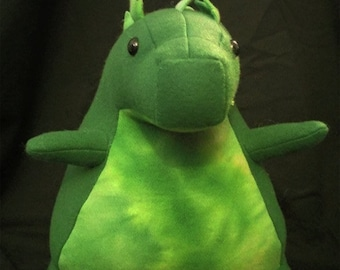 Fatzilla Kaiju Cute Plush Toy Stuffy Handmade Fleece