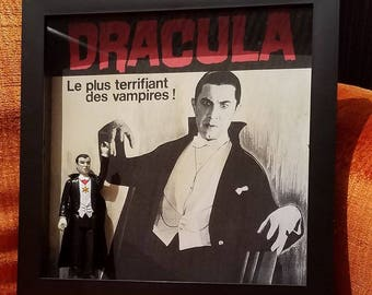 Dracula Shadowbox with ACTION FIGURE