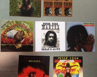 Peter Tosh MAGNETS collectible music gift reggae Bob Marley Wailers protest music equality Roots Rocksteady herb vinyl