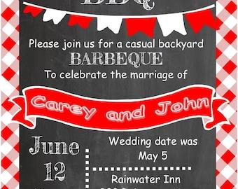 eloping party invitations chalkboard 1985el