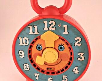 Vintage Mattel See 'n Say Clock - Very Cute - WORKS