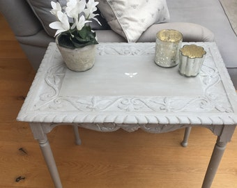 Hand painted Grey Vintage Side / Coffee Table