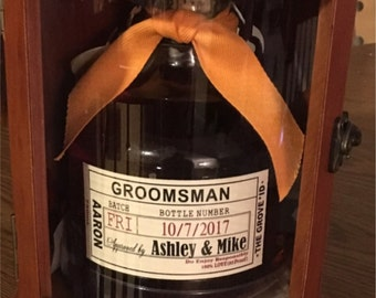 Custom Whiskey Labels -  Groomsman Liquor Labels for your Best Man and Groomsman Gifts