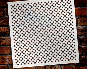 Pattern Stencil - 1/8in Checks- Select Size - STCL622_1- by StudioR12