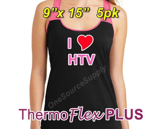 "9""x 15"" / 5-sheet / ThermoFlex Plus - Heat Transfer Vinyl - HTV"