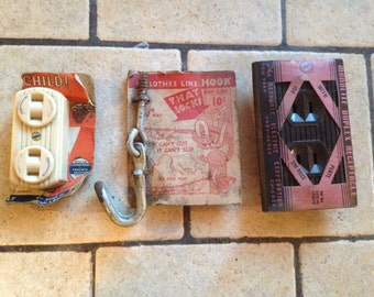 Collection of Antique Hardware and Electrical Parts