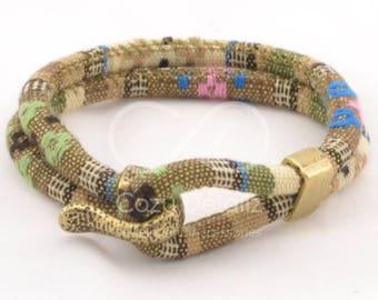 ethnic bronze bracelet, trending now, nautical hook bracelet, anniversary gifts, trending jewelry, bronze jewelry, pastel green bracelet