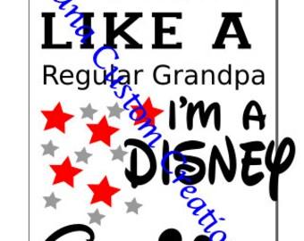 Disney Grandpa SVG Cricut Silhouette