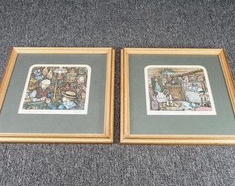 Vintage Framed Prints By Colin Carr C. 1976