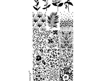 Nail Stamping Plate - 022 FLOWERY