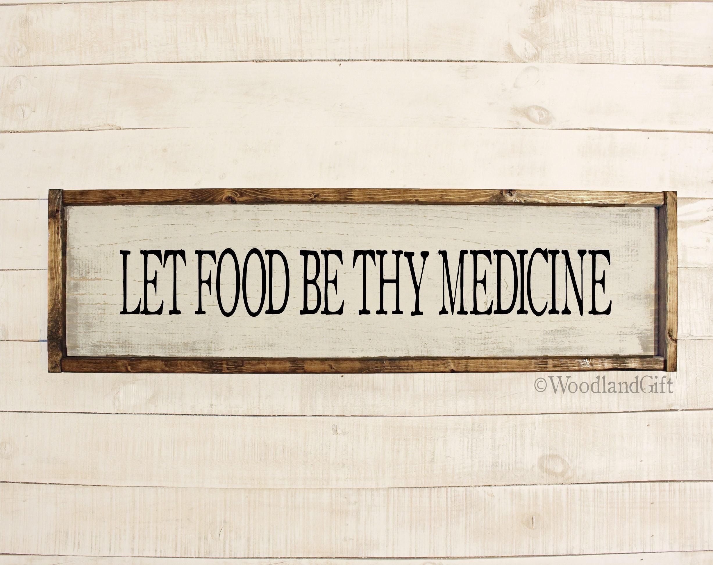 Lassen Sie die Nahrung deine Medizin sein Lassen Sie die