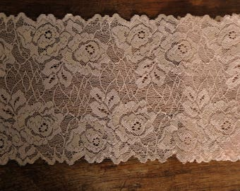 Stretch Lace - Blush Beige