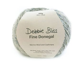 Debbie Bliss - Fine Donegal - One ball of yarn (100 grams) - Soft Grey - Colour: 54003