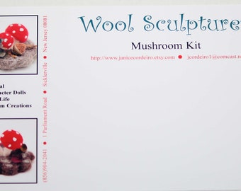 Needle Felting Kit Mushroom Scene Woodland