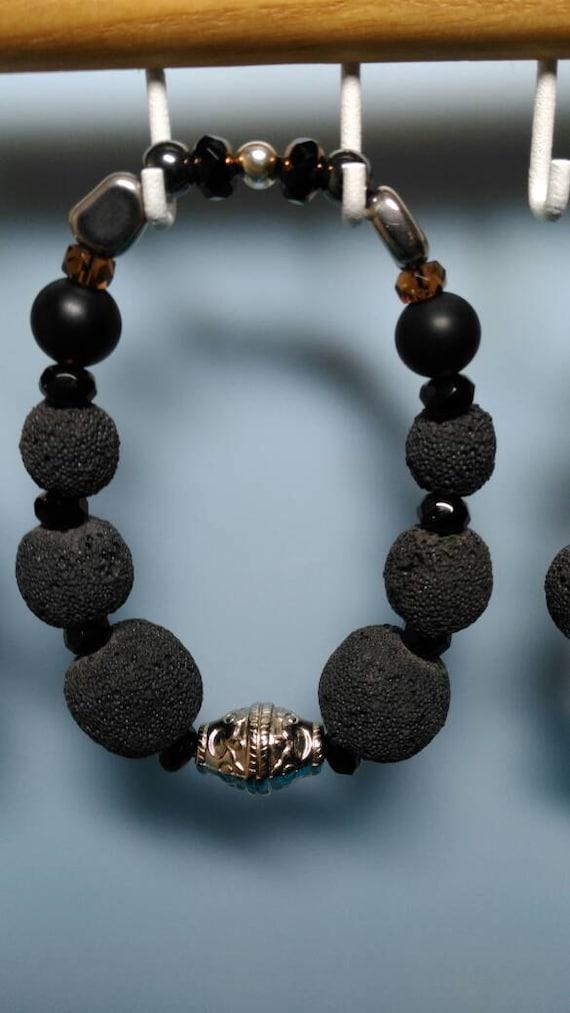 Men's Lava Rock based bracelet