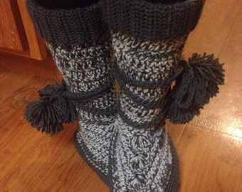 Womens Slipper Boots