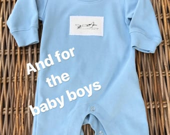 READY to SHIP . 0/3m infant sleeper . Sky Blue . Airplane . Only 1 available . Ships in 1-2 days