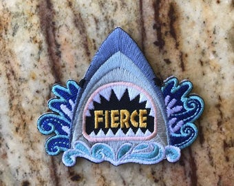 Fierce Shark Week Ocean Swim Fun Patch Embroidered