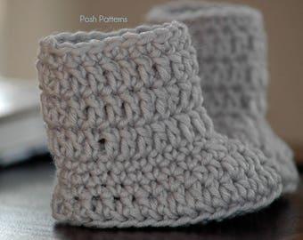 Crochet PATTERN - Baby Boots Crochet Pattern - Baby Shoes Pattern - Baby Booties Crochet Pattern - 2 Sizes - Photo Prop Pattern - PDF 258
