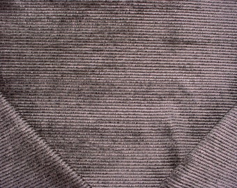 3 yards Kravet / Lee Jofa 33950 Justly Famous in Gragoyle - Luxury Grey Fringed Rib Velvet Drapery Upholstery Fabric - Free Shipping