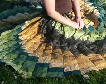 Made to Order Custom Floor Length Bohemian Gypsy Fantasy Spiral Skirt