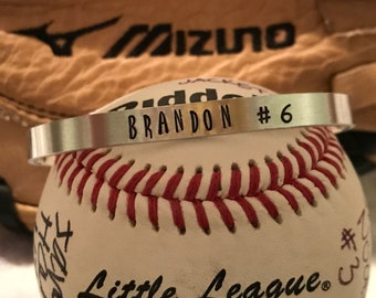 Name and Jersey # custom bracelet