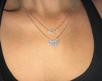 Starburst Cz Necklace