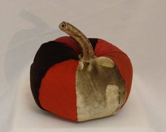 Velvet and silk fabric Pumpkin