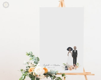 Guest book Alternative, Guestbook Photo Sign, Guestbook Sign, Illustrated Portrait, Wedding Portrait, Portrait Guestbook, Guest Sign-In #IPP