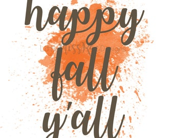 Happy Fall Y'all {poster}